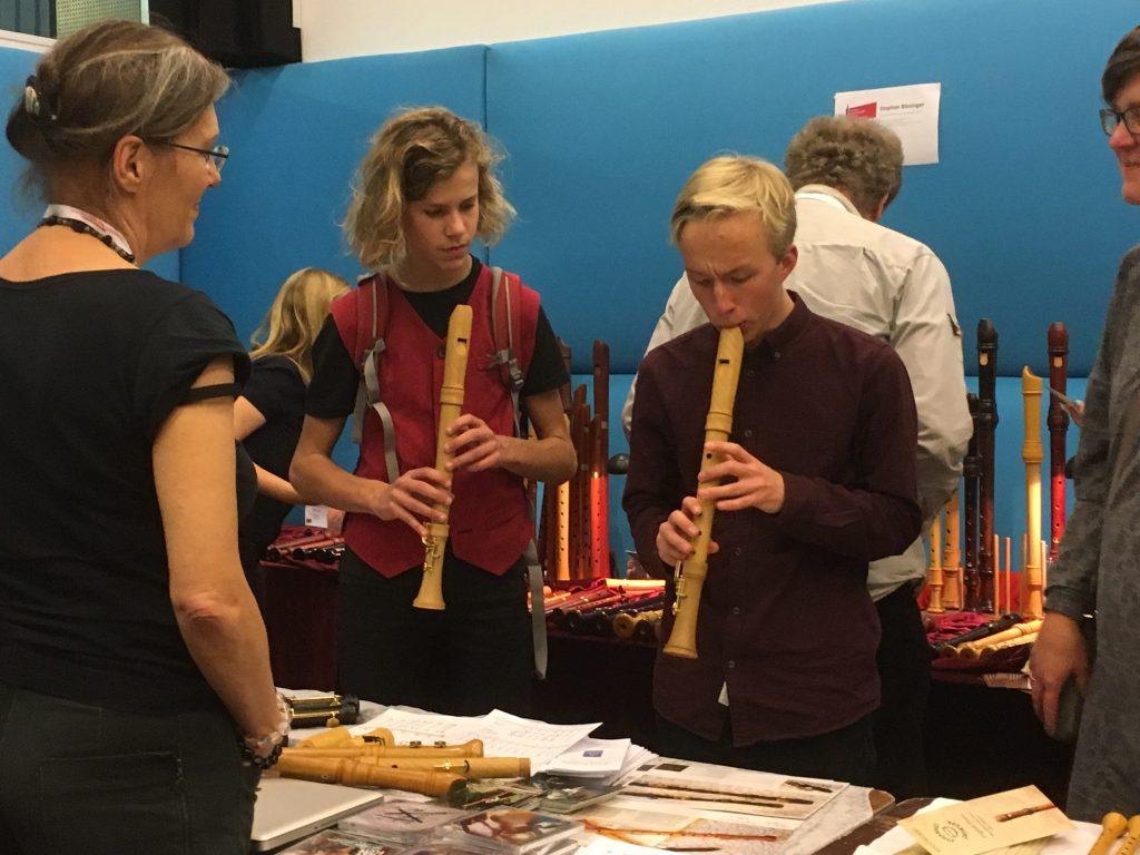 Op de blokfluitmarkt van de Open Recorder Days Amsterdam