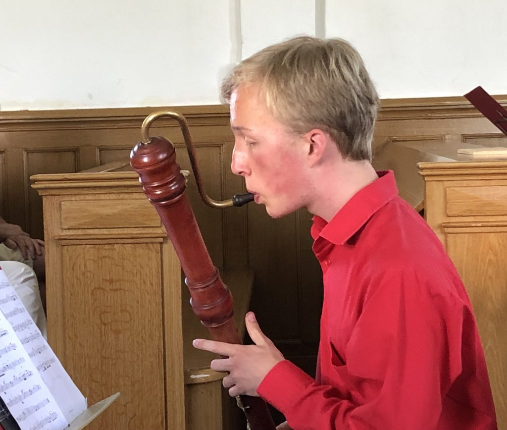 Sjoerd Prins met zijn ensemble Gaudete en Stella Boggia- spinet